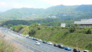 <ジアウトレット広島抜け道>五日市インターチェンジの渋滞を避けて駐車場へ行く裏道